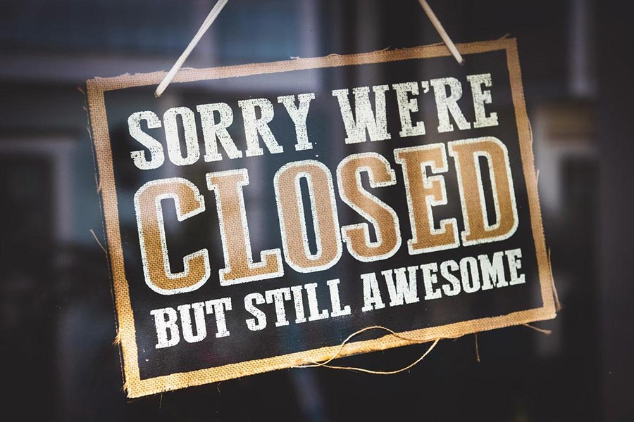 Sorry We're Closed -- But Still Awesome!